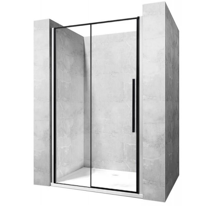 LAROS BLACK 140 Well Sprchové dvere s čiernymi profilmi