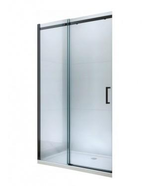 ORESTE 160 BLACK Clear Well Sprchové dvere do niky posuvné