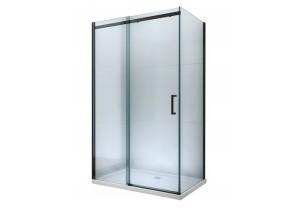 ORESTE COMBI 150x90 BLACK Clear Well Sprchová zástena s posuvnými dverami