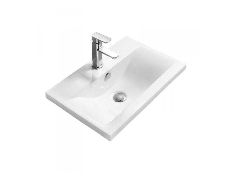 EMMEX Well umývadlo zapustené 61 x 39 cm biele