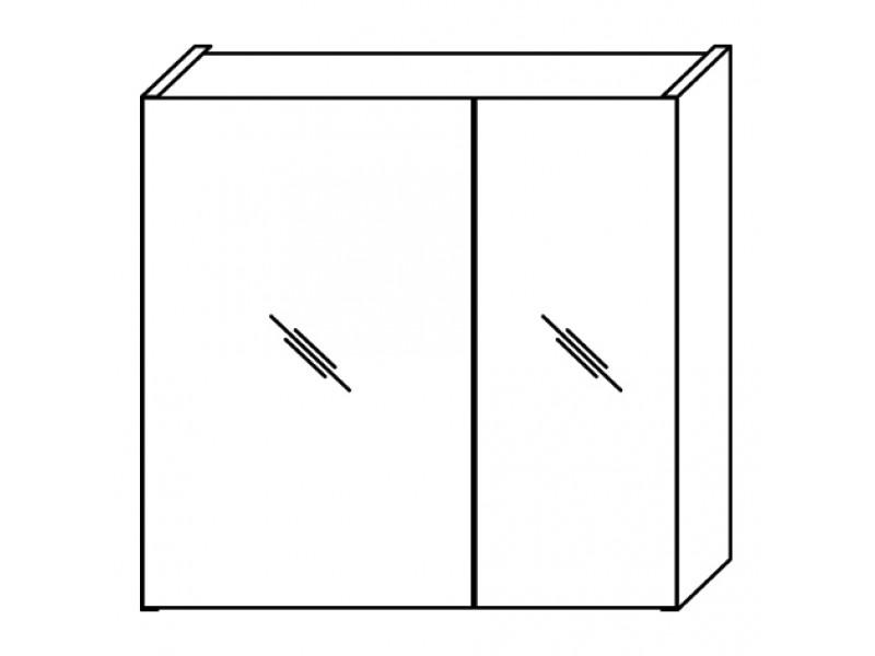 FOCUS 55 Olsen-spa Skrinka so zrkadlom, orech dijon