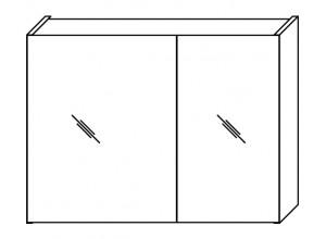 FOCUS 74 Olsen-spa Skrinka so zrkadlom, biela