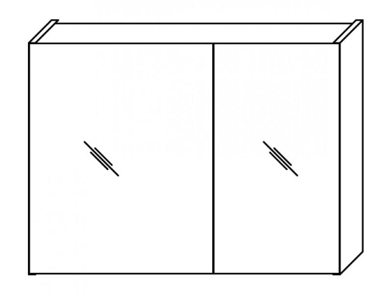 FOCUS 74 Olsen-spa Skrinka so zrkadlom, orech dijon