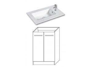 FOCUS 55 Olsen-spa Skrinka s umývadlom 55 cm, sokel, biela