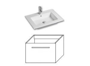 F-EXCLUSIVE-U80 Olsen-spa Skrinka s umývadlom 80 cm, závesná, biela
