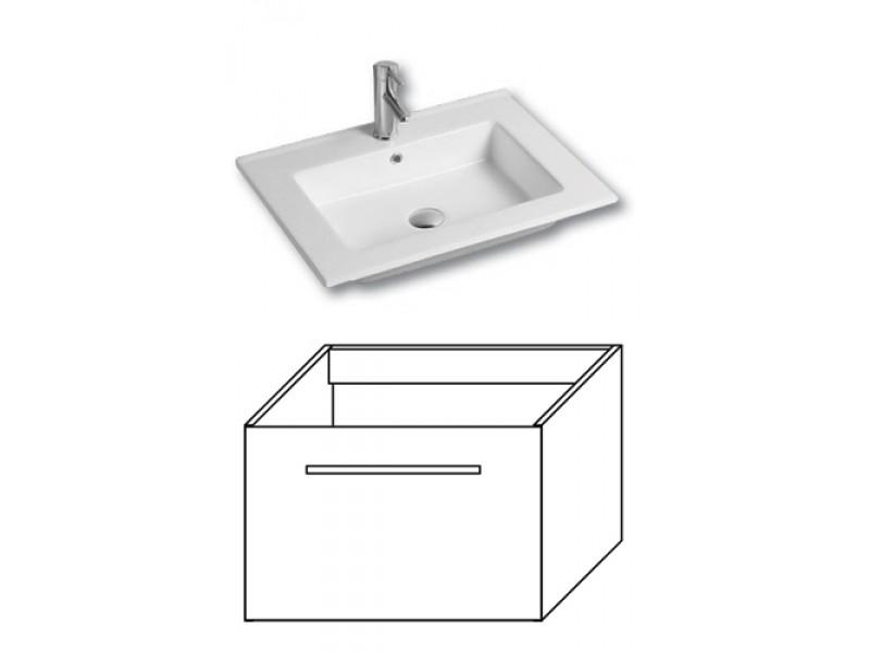F-EXCLUSIVE-U80 Olsen-spa Skrinka s umývadlom 80 cm, závesná, Arusha wenge