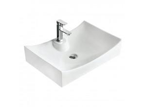 GISELA Well umývadlo na dosku 66 x 45 cm biele