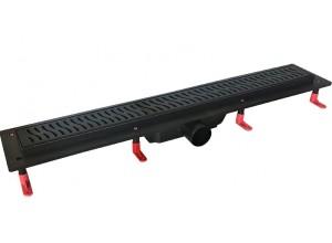 H-700 BLACK Well Sprchovací odtokový podlahový žľab