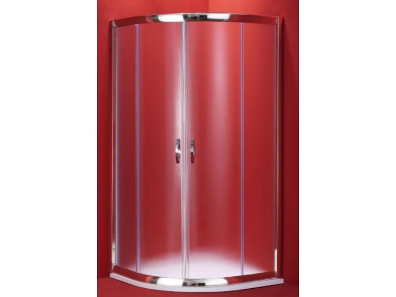BARCELONA 100 × 100 chrom rám mat Olsen-Spa sprchovací kút