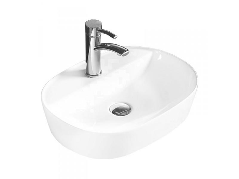 INES Well umývadlo na dosku 50 x 38 cm biele