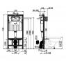 AM102 + M70 Jádromodul Alcaplast kompletný inštalačný set