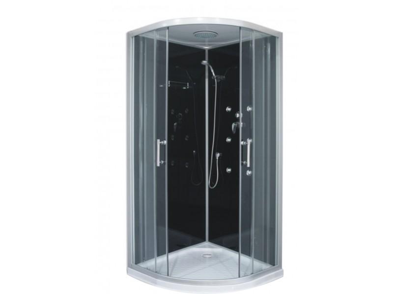 JOE BLACK 90 ROCKY Hydromasážny sprchovací box s mramorovou vaničkou