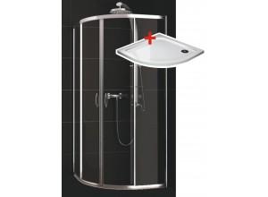 KATY 80 clear ROCKY Well sprchovací kút s mramorovou vaničkou