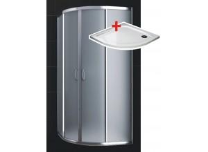 KATY 80 satinato ROCKY Well sprchovací kút s mramorovou vaničkou