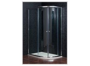 KLASIK 80x120 New clear ľavá Arttec sprchový kút s vaničkou STONE