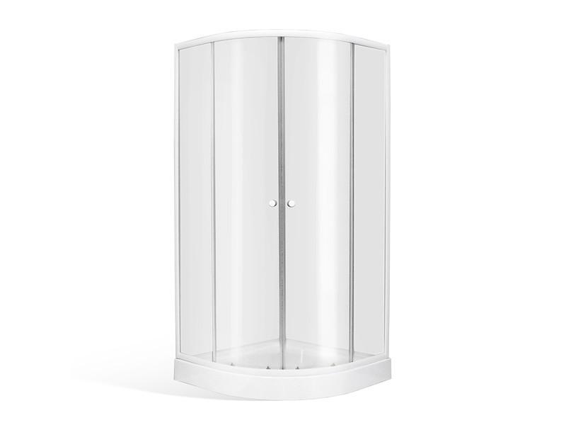 ATHILA 80 Well Štvrťkruhový sprchovací kút s vaničkou + sifon ZADARMO