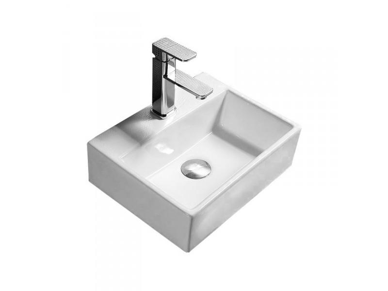 MODESTO mini 2 umývadlo na dosku 40 x 30 biele