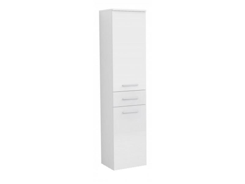 RINO B OlsenSpa Vysoká bočná skrinka, 1x dvierka, 1x šuplík, 1x kôš, ľavé prevedenie