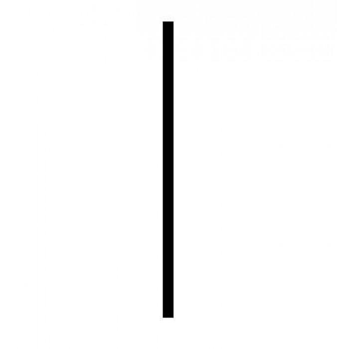 Nastavovací profil k sprchovacím dverám HOPA, chróm, 1 cm (výška 190 cm)