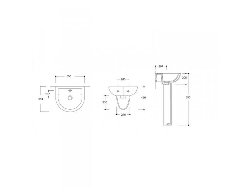 COMPACT 45 Olsen-Spa Nástenné umývadlo