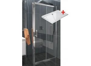 NICOL ROCKY 120x80 číre Well sprchová zástena obdĺžniková s vaničkou