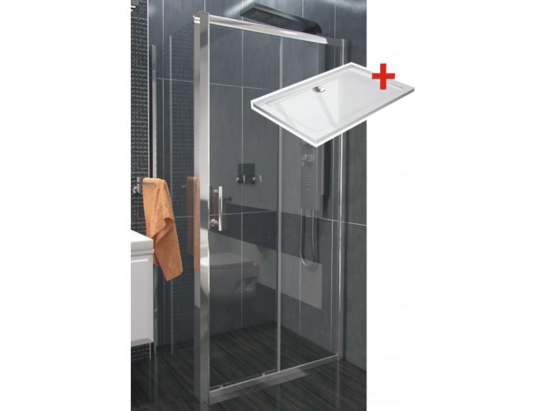 NICOL ROCKY 120x90 číre Well sprchová zástena obdĺžniková s vaničkou