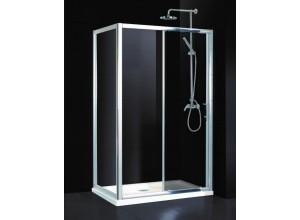 Obdĺžnikový sprchovací kút ELCHE II KOMBI130 x 80 x 195 cm, 6mm čiré