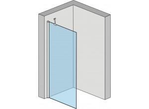 Alfa 100 Clear Well Pevná sprchovací zastena
