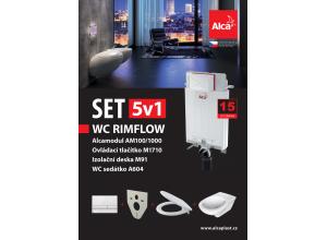 Set 5v1 AM100/1000, WC Rimflow