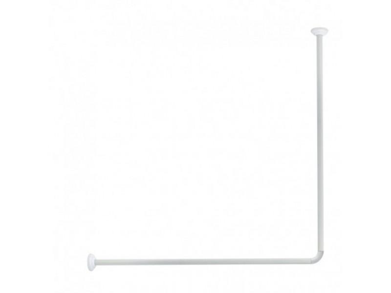 Tyč rohová na sprchový záves Olsen 80 x 94 - 180 cm biela