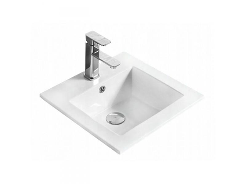 SABRI Well umývadlo zapustené 42 x 42 cm biele