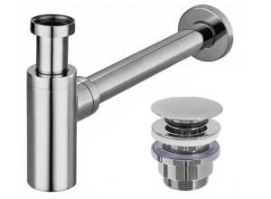 SIFÓN + CLICK-CLACK Komplet k umývadlu - chrom