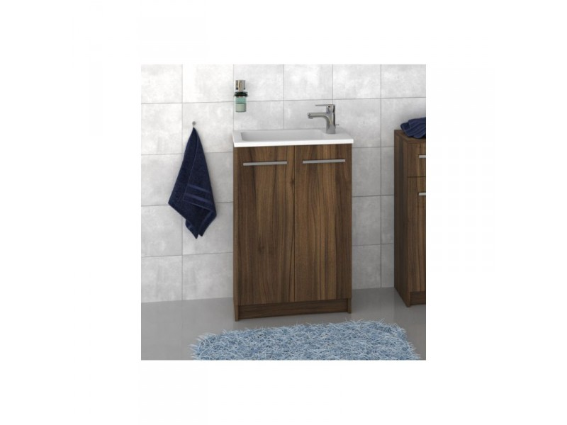FOCUS 55 Olsen-spa Skrinka s umývadlom 55 cm, sokel, orech dijon