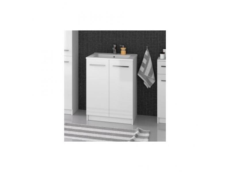 FOCUS 60 Olsen-spa Skrinka s umývadlom 60 cm, sokel, biela