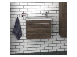 FOCUS 55 Olsen-spa Skrinka s umývadlom 55 cm, závesná, orech dijon