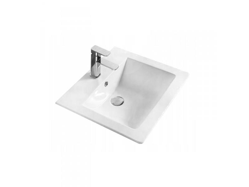 SOLANA Well umývadlo zapustené 53 x 46 cm biele