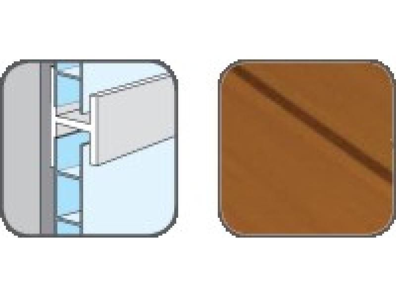 D10303 Hopa Spojovací profil plastový 43 jelša 3m