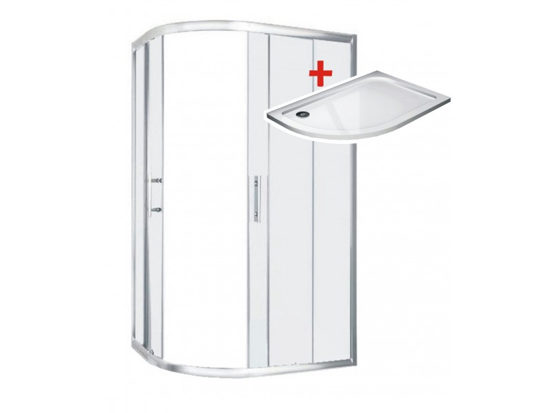 TORINO ROCKY 100x80 Pravý Well Sprchovací kút