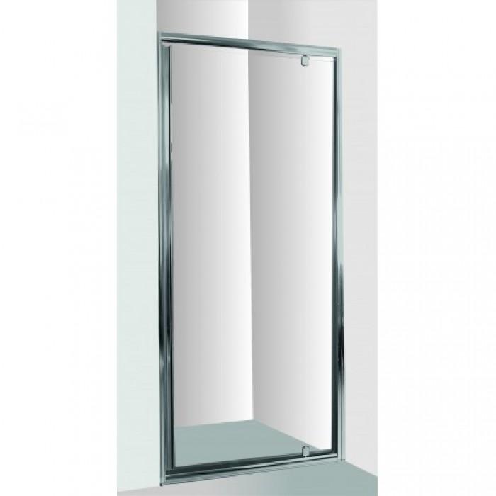 Sprchové dvere do niky SMART - ALARO - 70 x 190 cm, Bez vaničky, Hliník chróm, 6mm číre