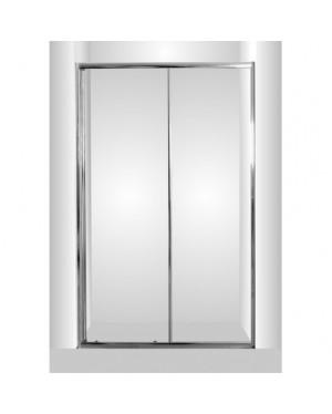 Sprchové dvere do niky SMART - SELVA - 120 x 190 cm, Bez vaničky, Hliník chróm, 6mm grape