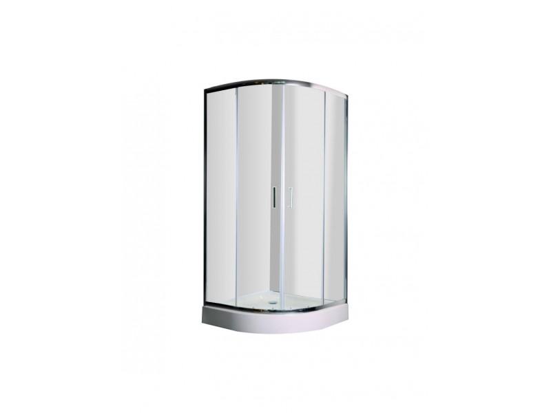 DOBRAO 90 Clear Well Štvrťkruhový sprchovací kút s vaničkou