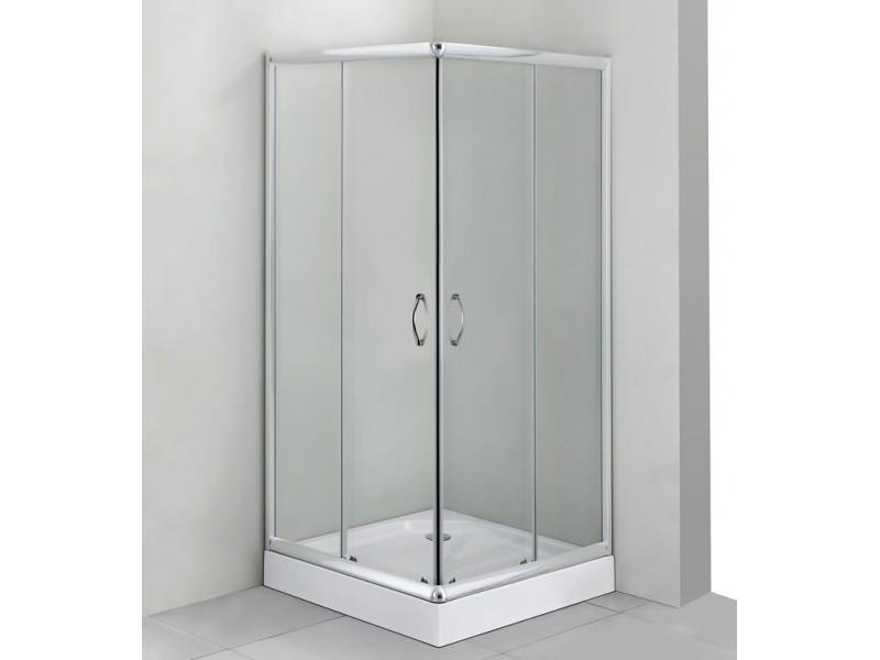 FUNY Q 90 Clear CORN Well Sprchovací kút s vaničkou