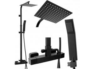 MARC Black Well Sprchový set s termostatickou batériou