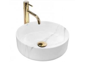 SABINE marmo Umývadlo na dosku - guľaté, lesk