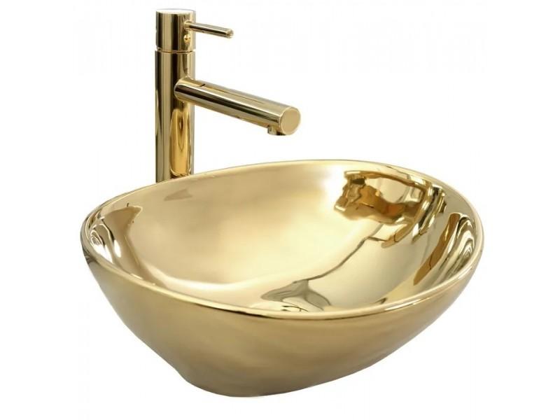 SATUR gold Umývadlo na dosku - lesk