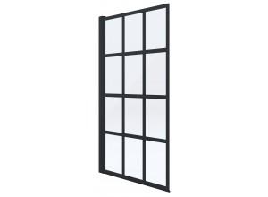 VITAL BLACK 75 x 145 cm Well Vaňová zástena jednodielna, čierna