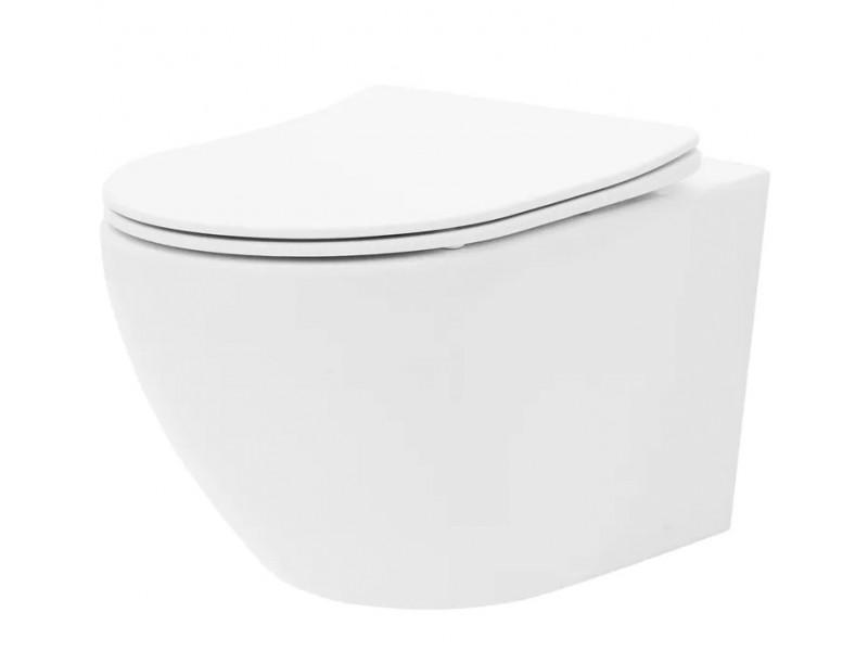 CURT mini RIMLESS WC misa závesná vrátane sedátka, biela