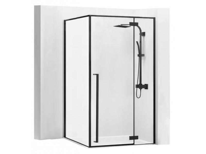 ERGO Black 100x80 Well Luxusné dizajnová Sprchová zástena