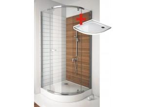 Hannah ROCKY 90 x 90 cm Well Luxusné štvrťkruhová sprchová zástena