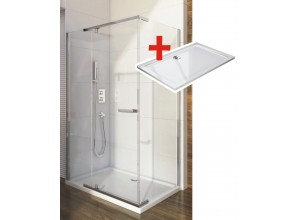 HANNAH ROCKY 120 x 90 cm Well Luxusná obdĺžniková sprchová zástena